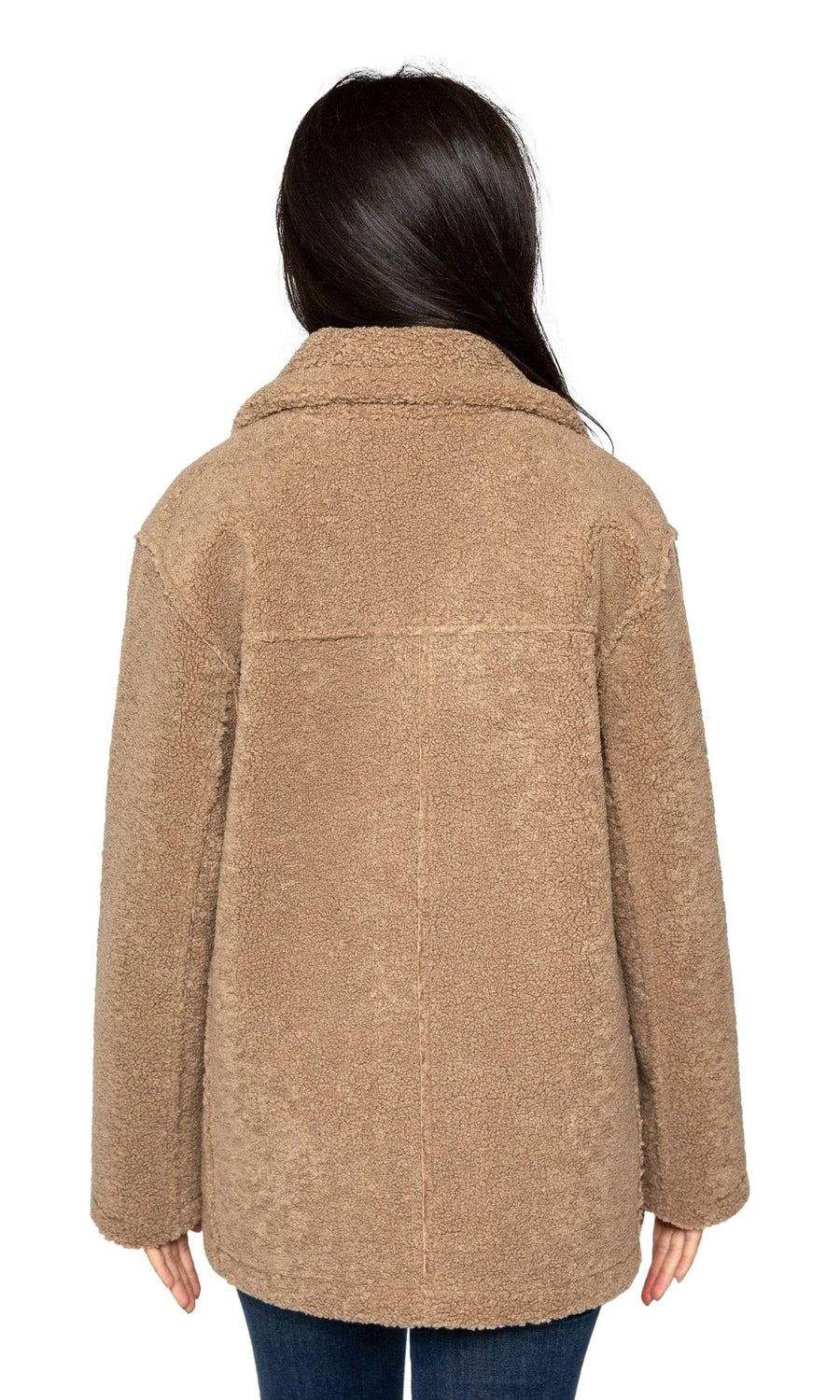 Velvet by Graham & Spencer Yoko Oversized Lux Sherpa Coat-Velvet-Vintage Fringe