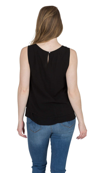 Velvet by Graham & Spencer Betsey Challis Ruffle Sleeveless Top