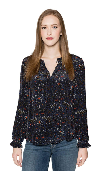 Velvet by Graham & Spencer Mary Floral Blouse-Velvet-Vintage Fringe