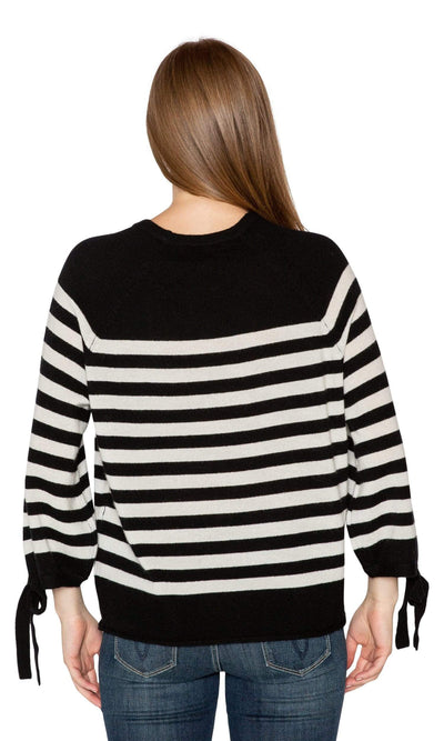 Velvet by Graham & Spencer Cacey Stripe Cashmere Sweater-Velvet-Vintage Fringe