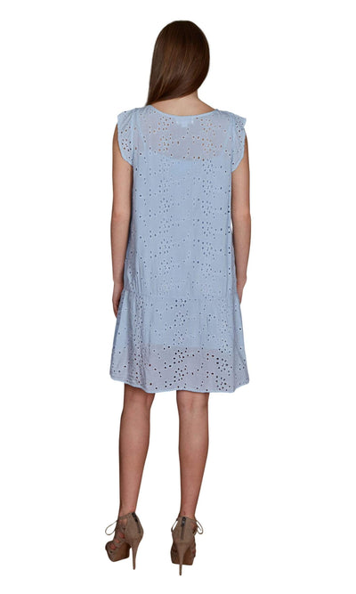 Velvet by Graham & Spencer Airlina Eyelet Scoop Neck Dress