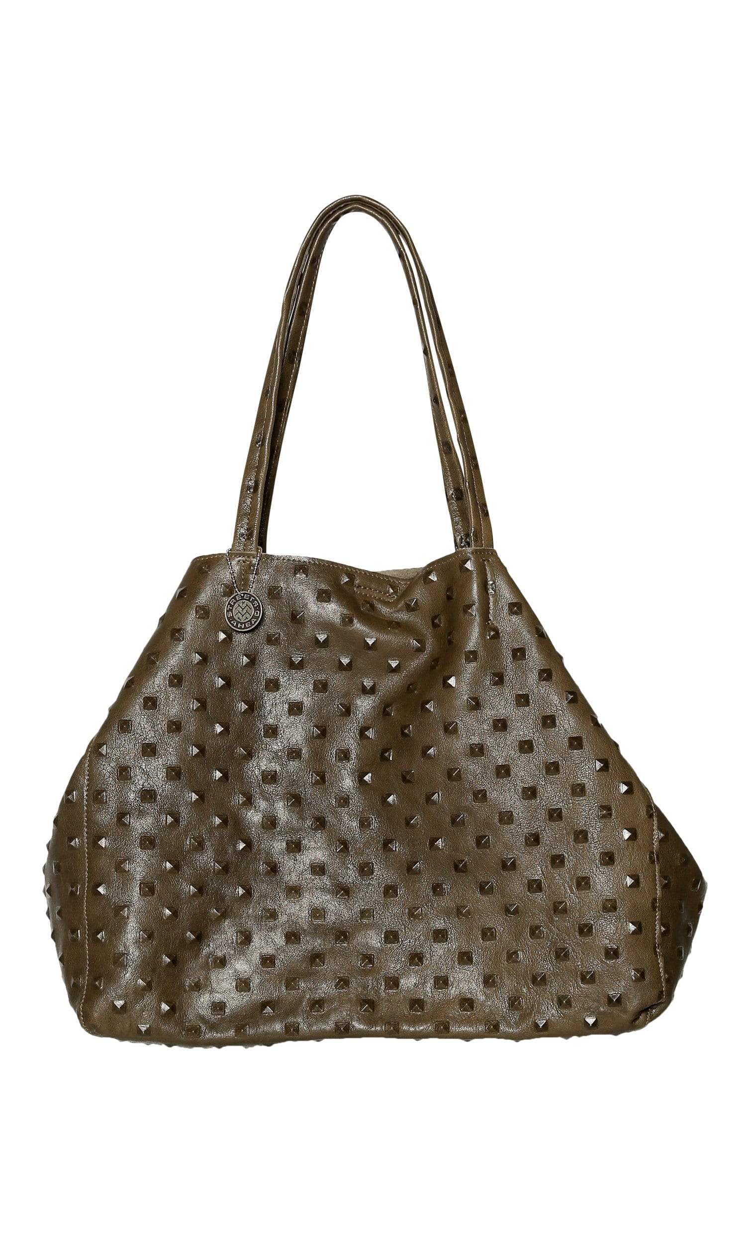 Streets Ahead Charlotte Pyramid Embossed Large Leather Tote