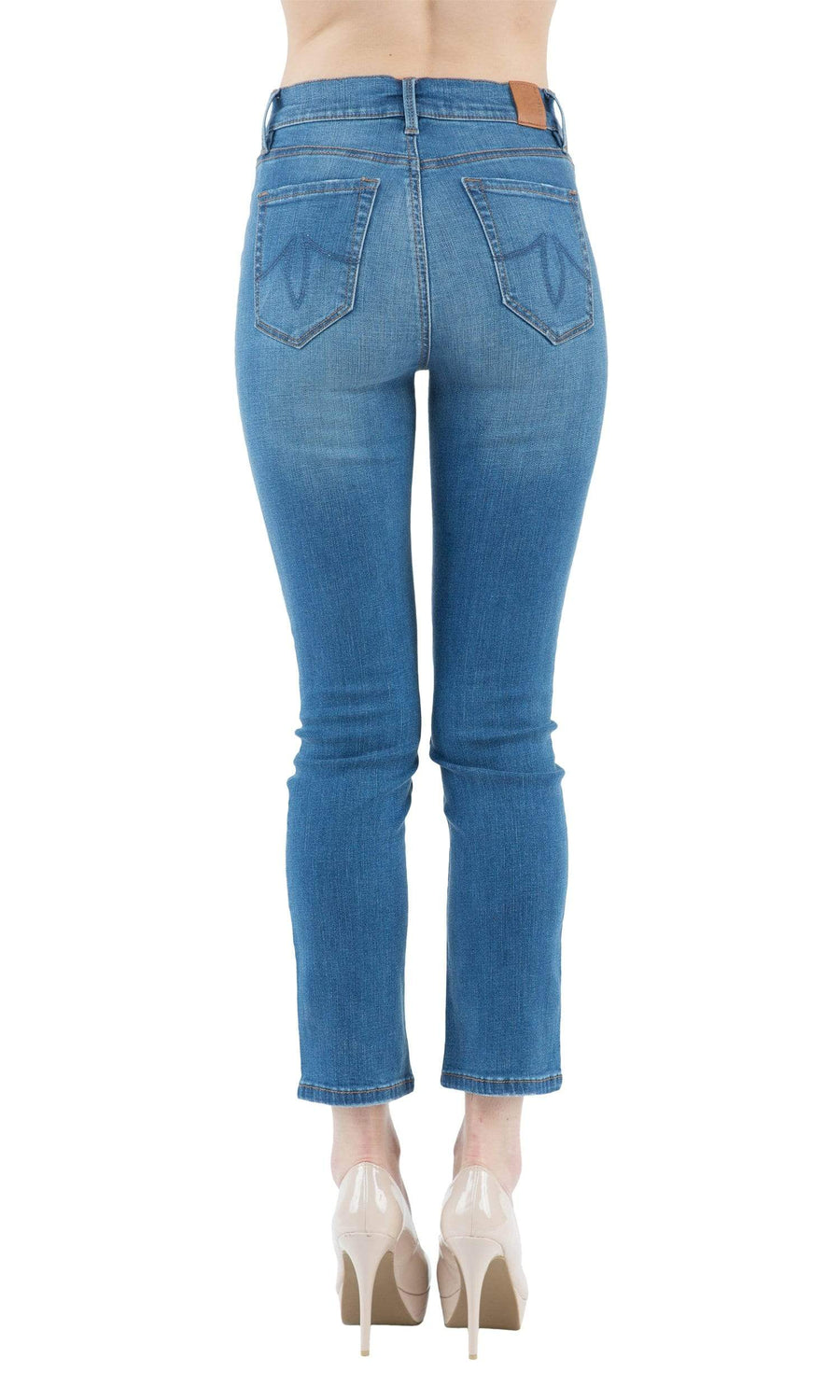 Level 99 Riley High Rise Button Fly Straight Leg Denim