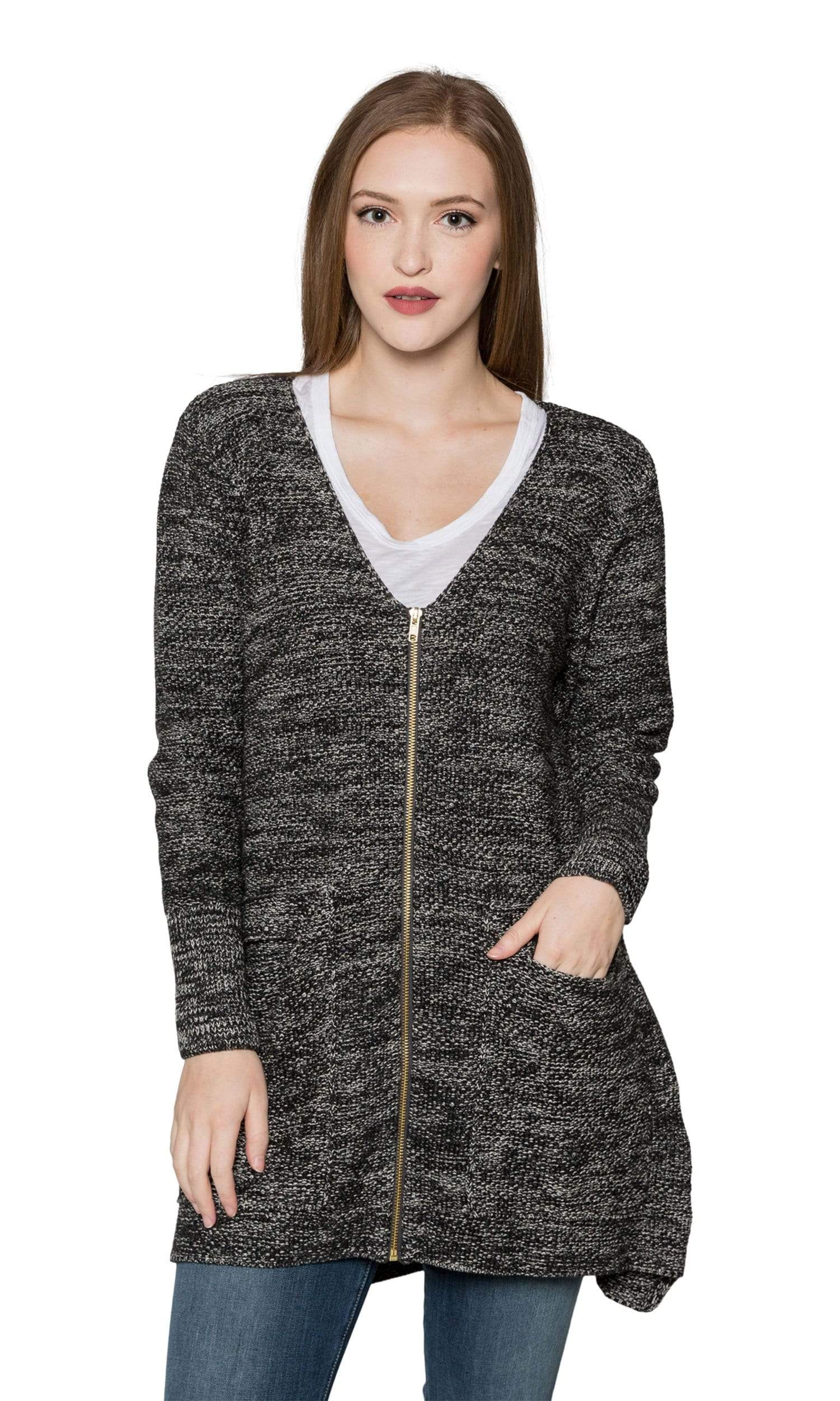Sogi Cotton Marled Cargo Cardigan