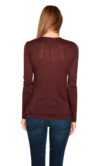 Velvet by Graham & Spencer Giana Luxe Slub Round Neck Top
