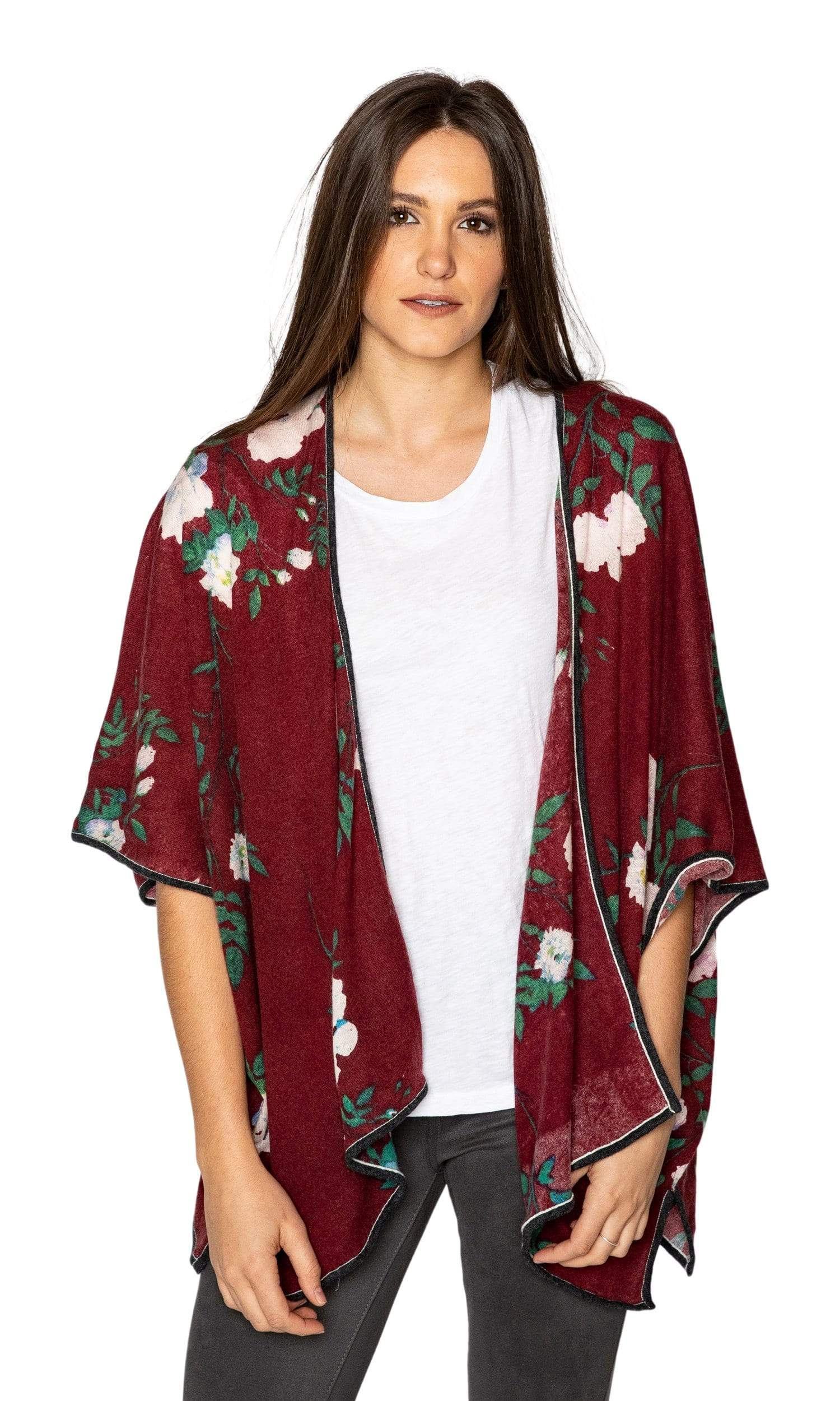 Knitwit Cashmere Kimono Cardigan - Belle Floral