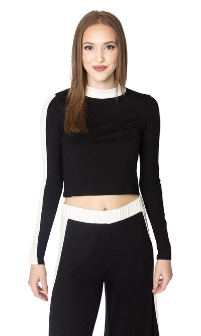 LAmade Vic Crop Top with Stripe