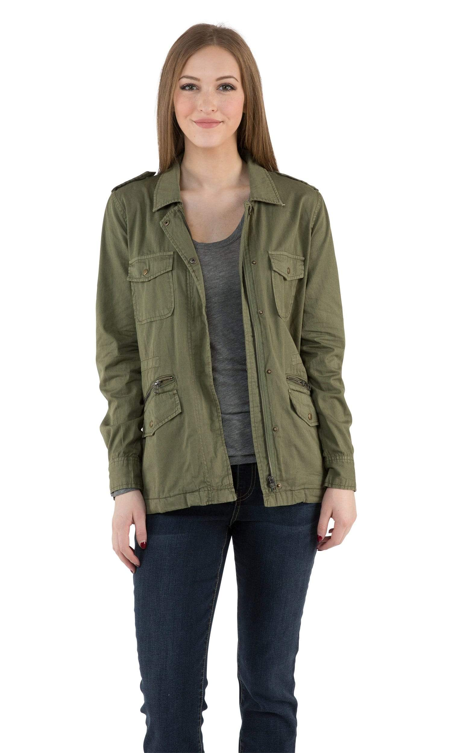 Velvet by Graham & Spencer Lily Aldridge Ruby Army Jacket