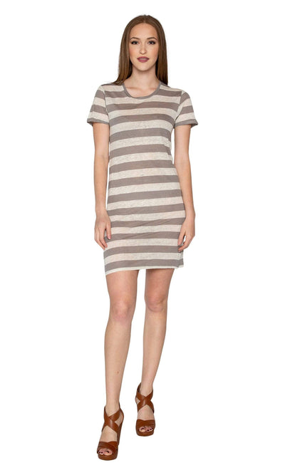 Velvet by Graham & Spencer Janie Striped Tunic Dress-Velvet-Vintage Fringe