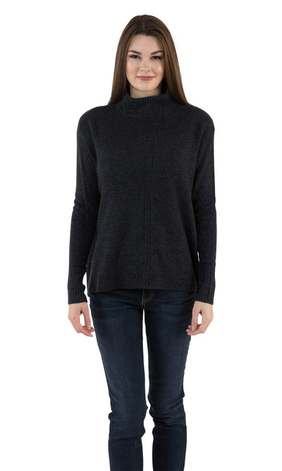 Velvet by Graham & Spencer Rosa Lurex Mock Neck Cashmere Sweater-Velvet-Vintage Fringe