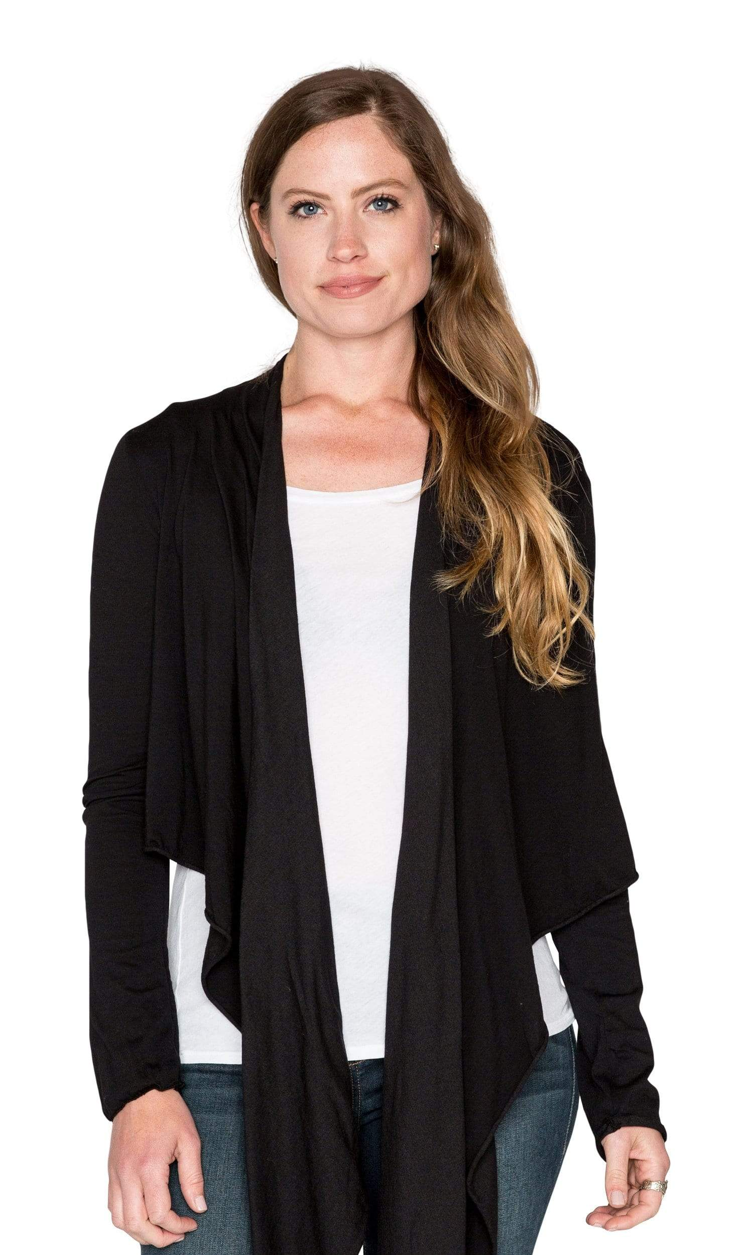 Velvet by Graham & Spencer Pavla Gauzy Whisper Raw Edge Cardigan