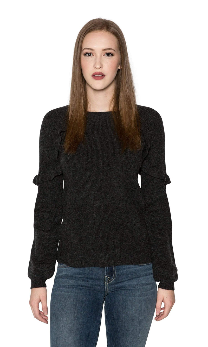 Velvet by Graham & Spencer Dane Ruffle Cashmere Sweater