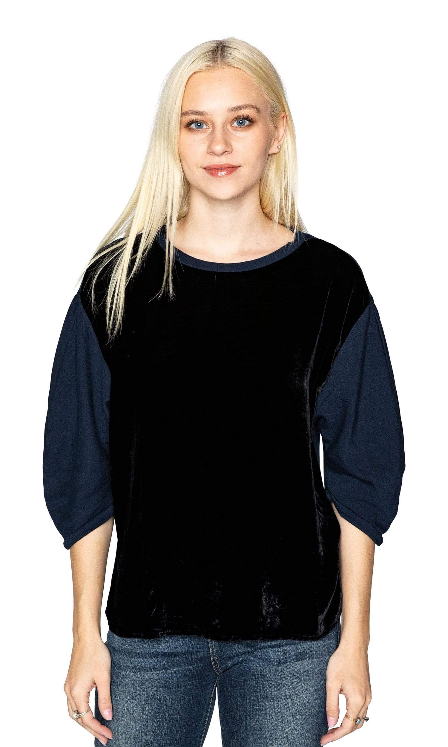 Velvet by Graham & Spencer Berta Velvet Fleece Puff Sleeve Top
