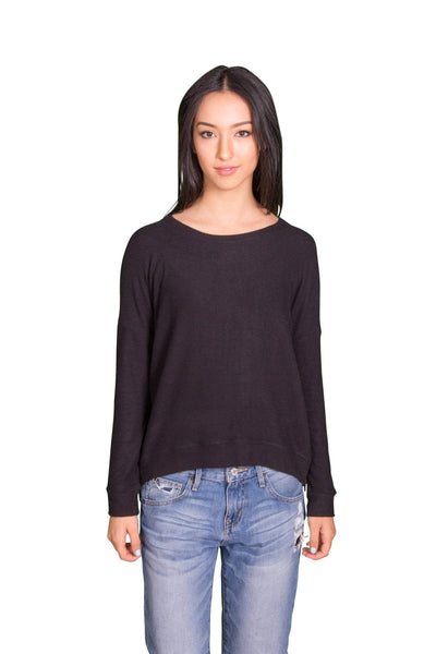 Velvet by Graham & Spencer Stace Cozy Jersey Side Zip Top-Velvet-Vintage Fringe