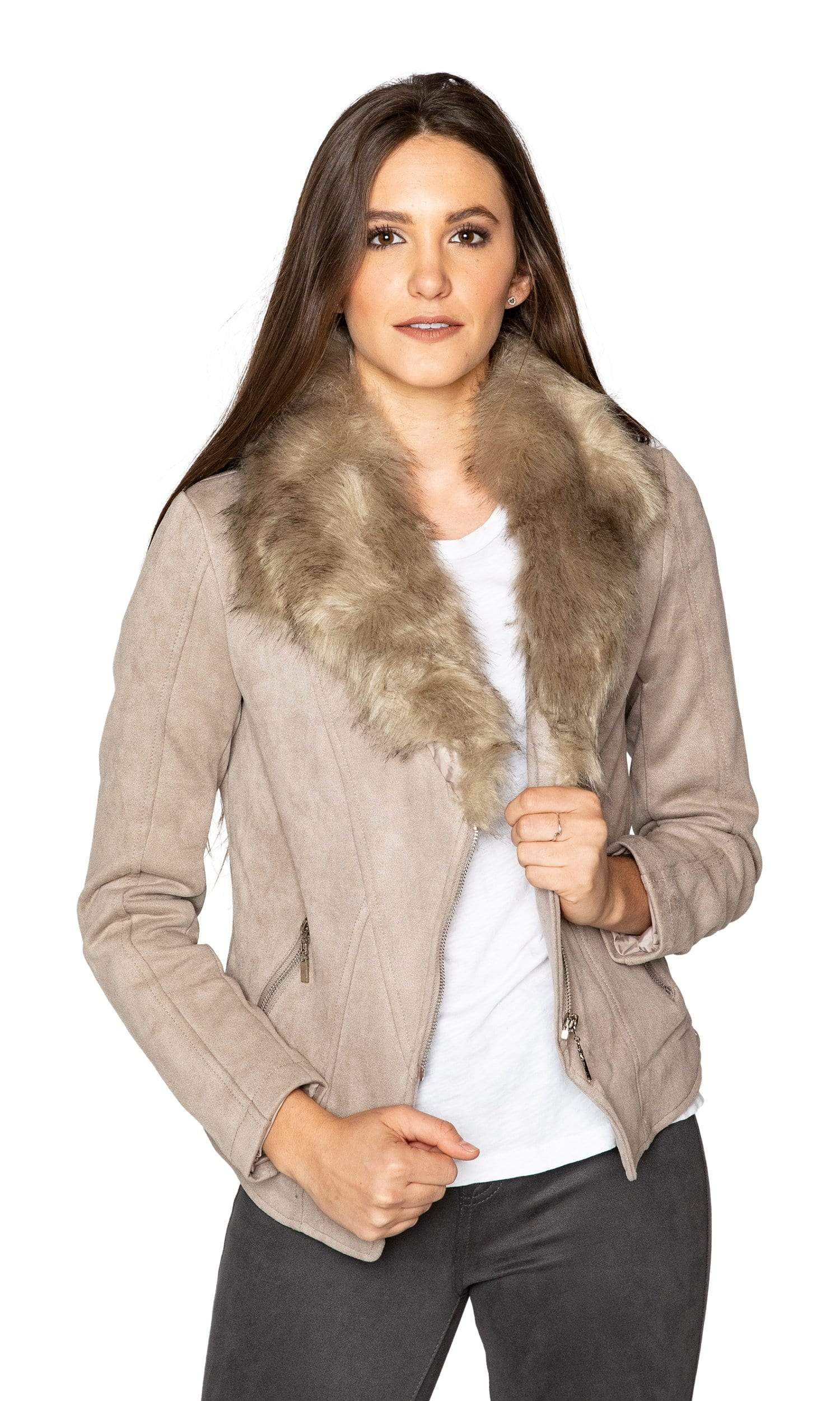 Love Token Kelly Faux Fur Trim Jacket