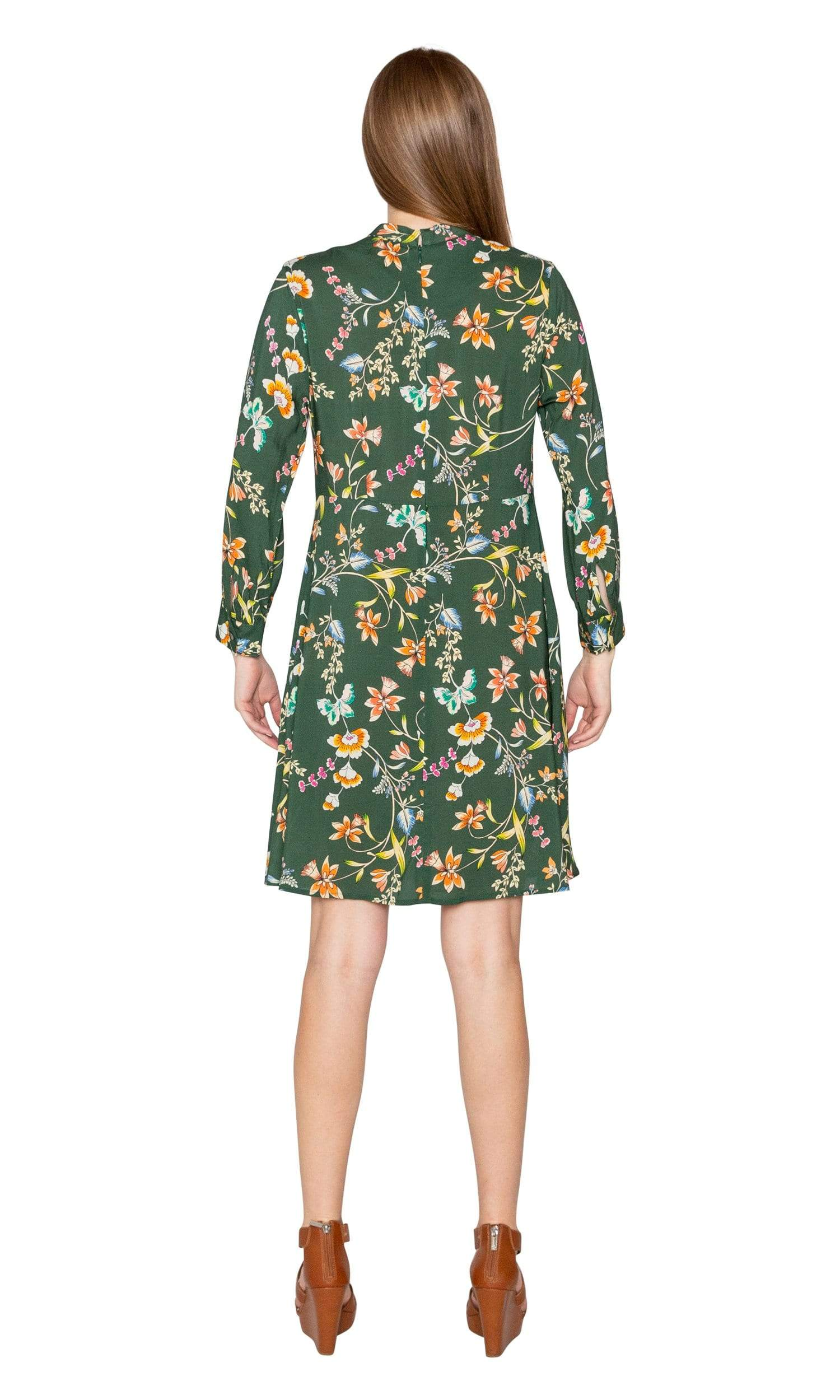Velvet by Graham & Spencer Juliet Printed Floral Mock Neck Dress