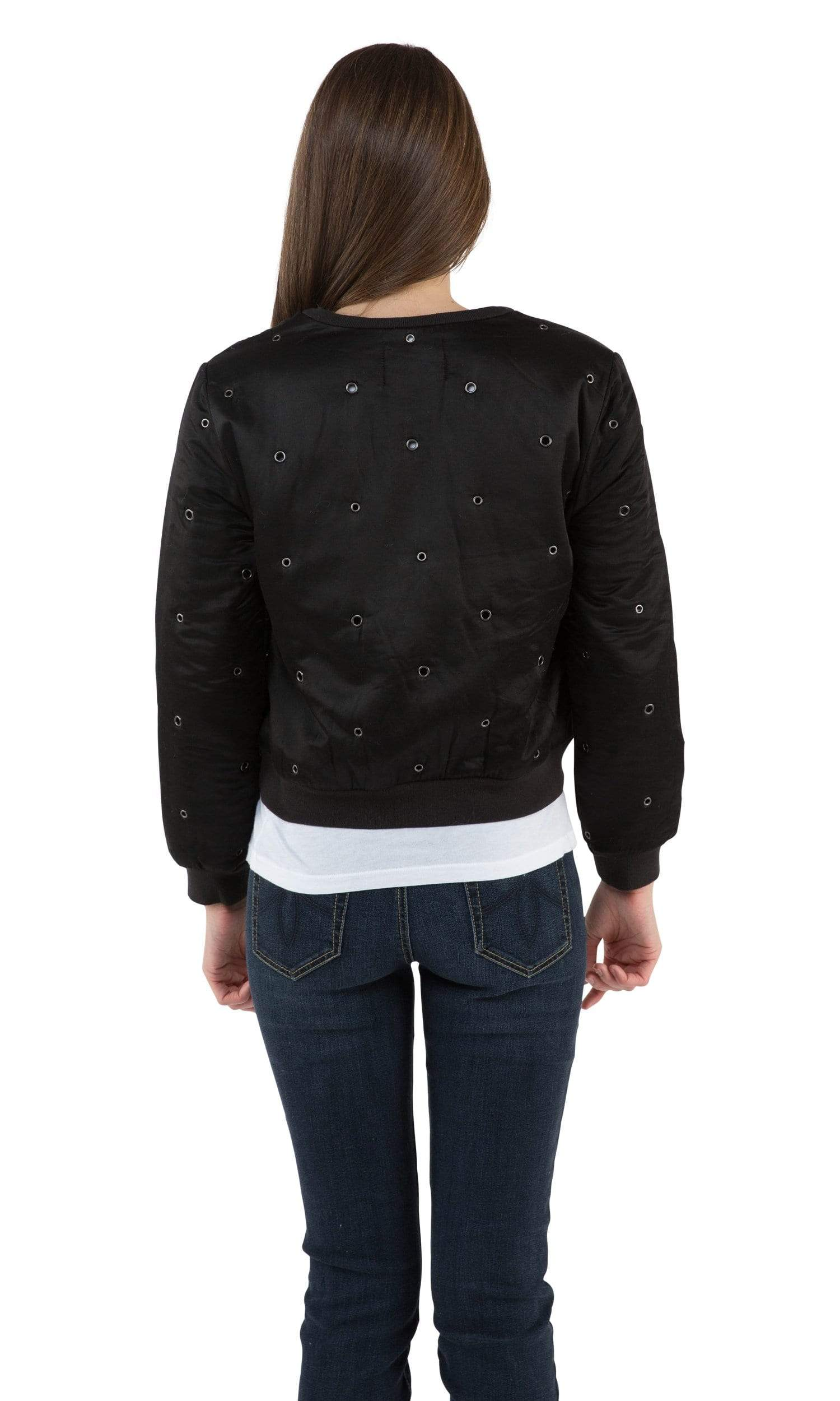 Velvet by Graham & Spencer Viviette Grommet Bomber Jacket