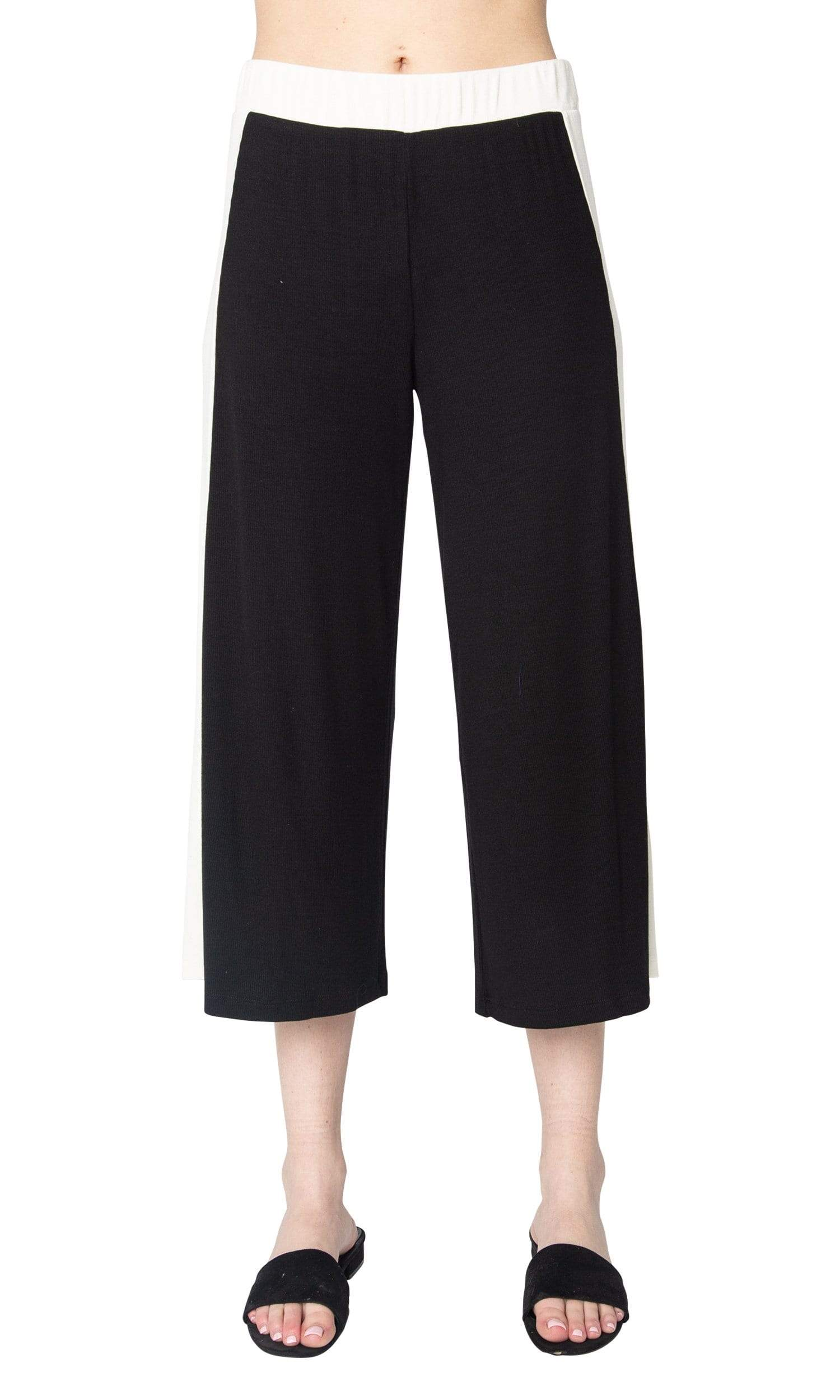 LAmade Mel Wide Leg Crop Pant with Stripe