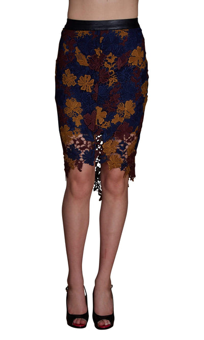 ASTR Betty Floral Lace Skirt