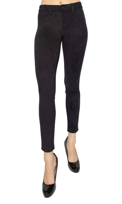 Level 99 Janice Ultra Skinny Mid Rise Faux Suede Pants
