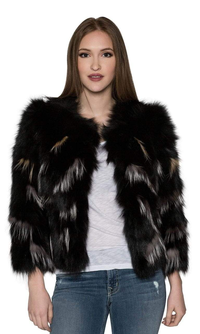 Love Token Melanie Genuine Fur Pattern Jacket