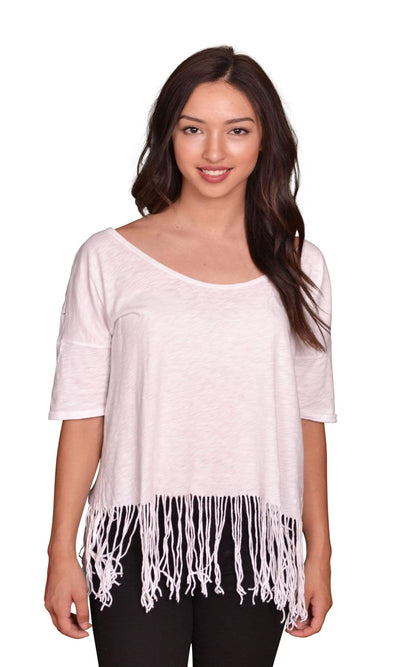 Velvet by Graham & Spencer Kelyn Fringe Top