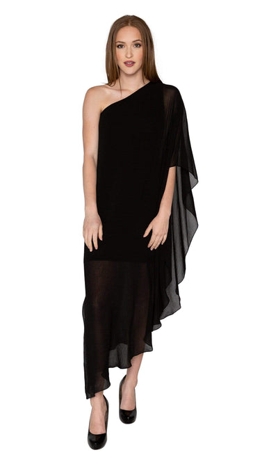 Analili Jasmine One Shoulder Drape Dress