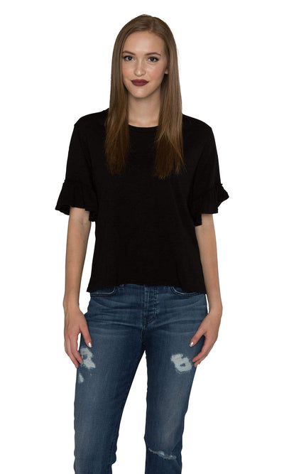 Velvet by Graham & Spencer Rielle Cotton Slub Ruffle Sleeve Top