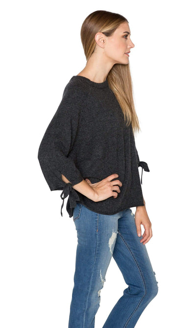 Velvet by Graham & Spencer Nicolette Cashmere Tie Sleeve Sweater-Velvet-Vintage Fringe