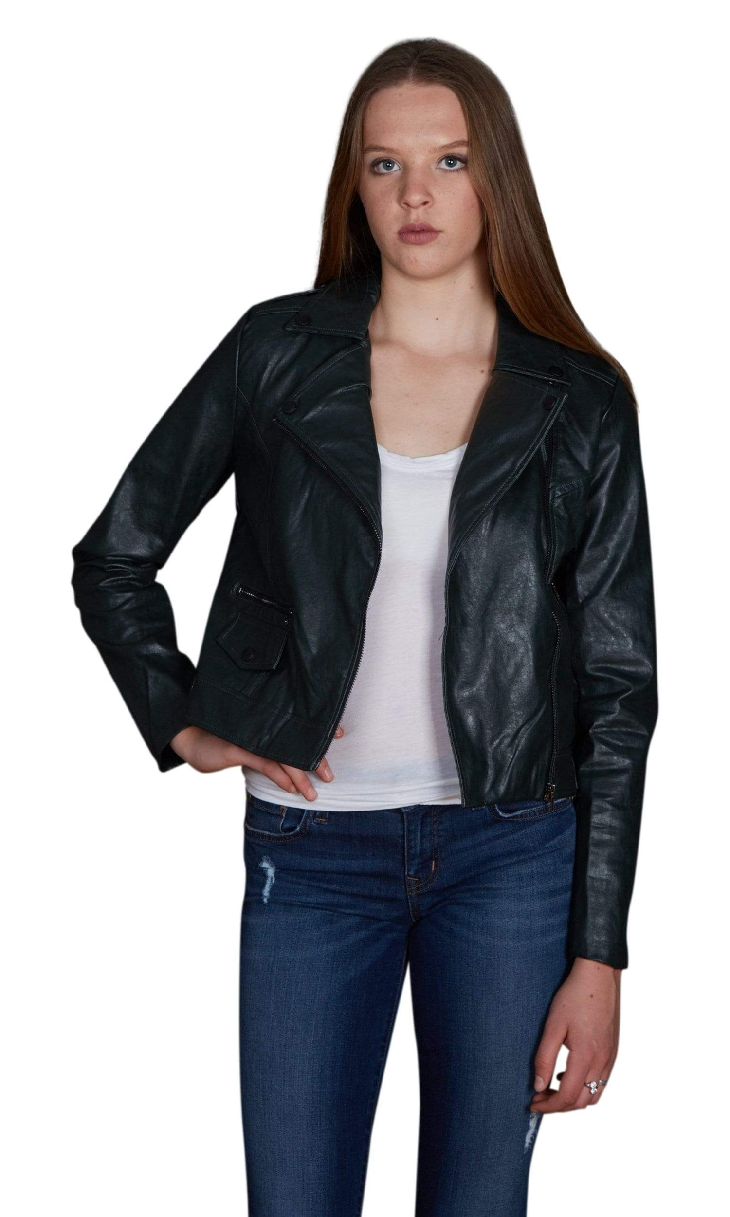 J.O.A. Faux Leather Jacket