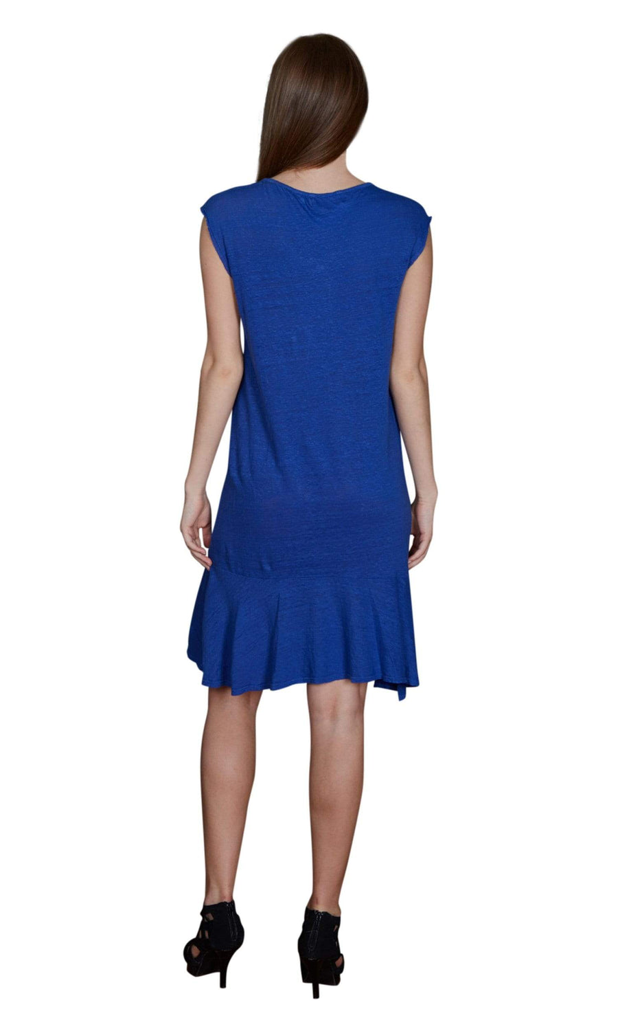 Velvet by Graham & Spencer Semaj Linen Cap Sleeve Dress