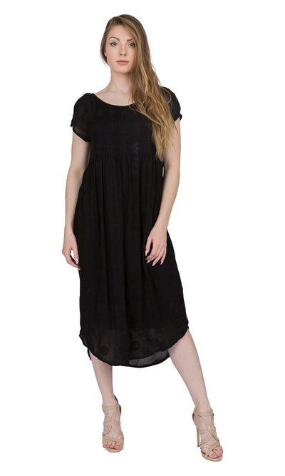 Velvet by Graham & Spencer Marcella Embroidered Gauze Dress-Velvet-Vintage Fringe