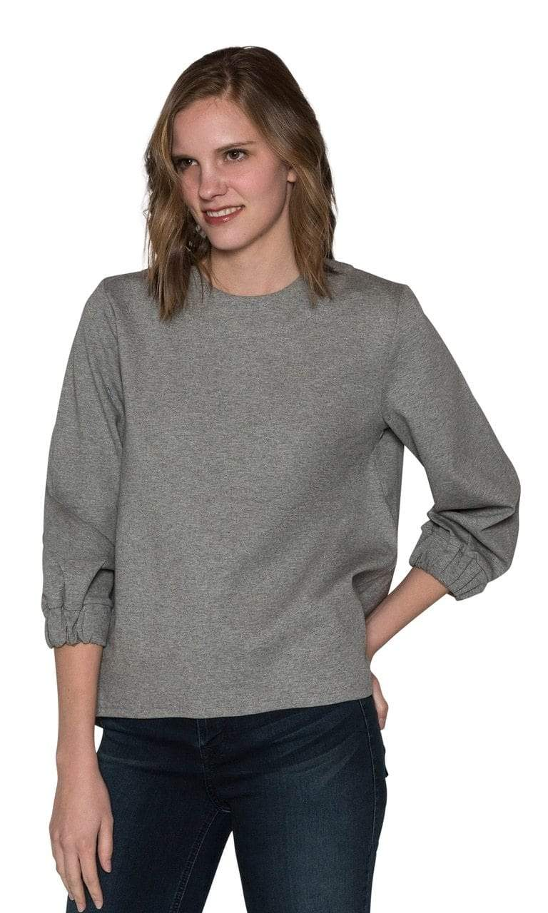 Caryn Vallone Gathered 3/4 Sleeve Top