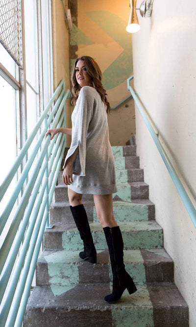 River + Sky North Slit Sleeve Dress