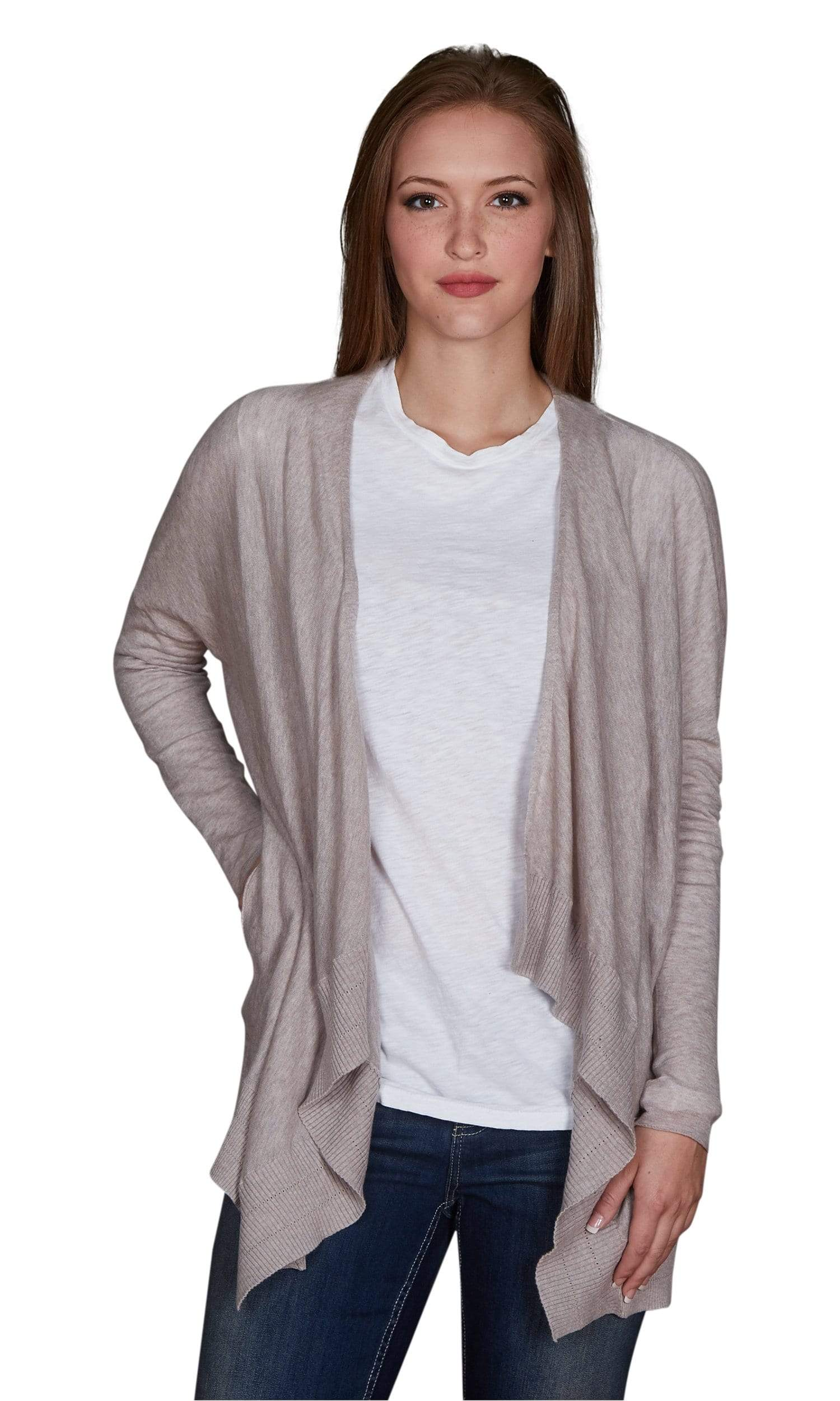 Velvet by Graham & Spencer Esmeralda Lux Cotton Drape Cardigan