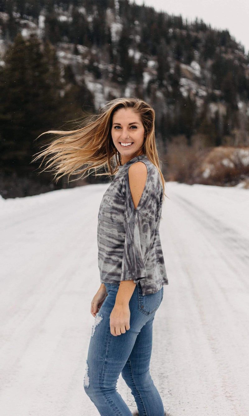 River + Sky Vail Cold Shoulder Sweatshirt