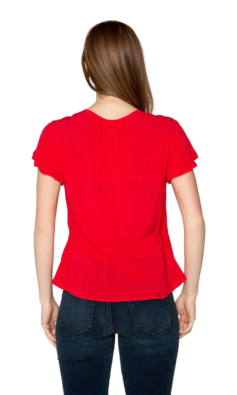 Velvet by Graham & Specer Lunara Rayon Challis Wrap Top