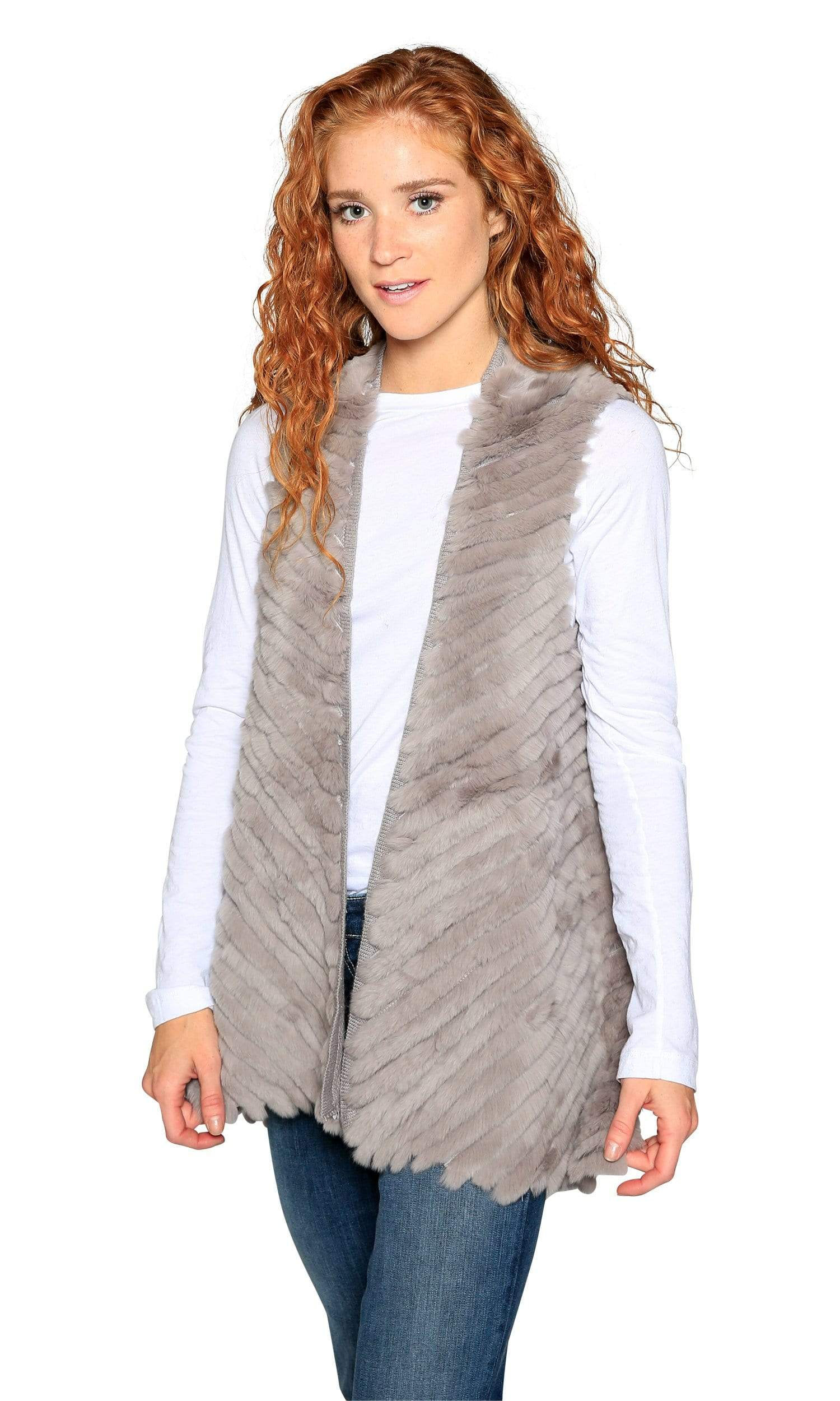 Love Token Layla Genuine Rabbit Fur Vest