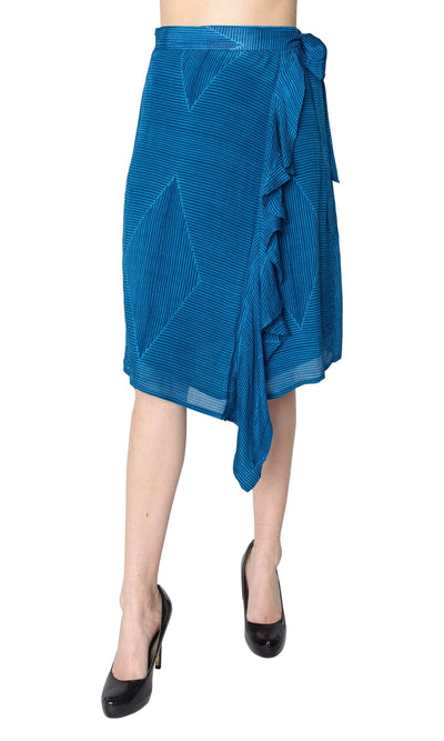 Conditions Apply Fun of the Travel Ruffle Front Wrap Skirt