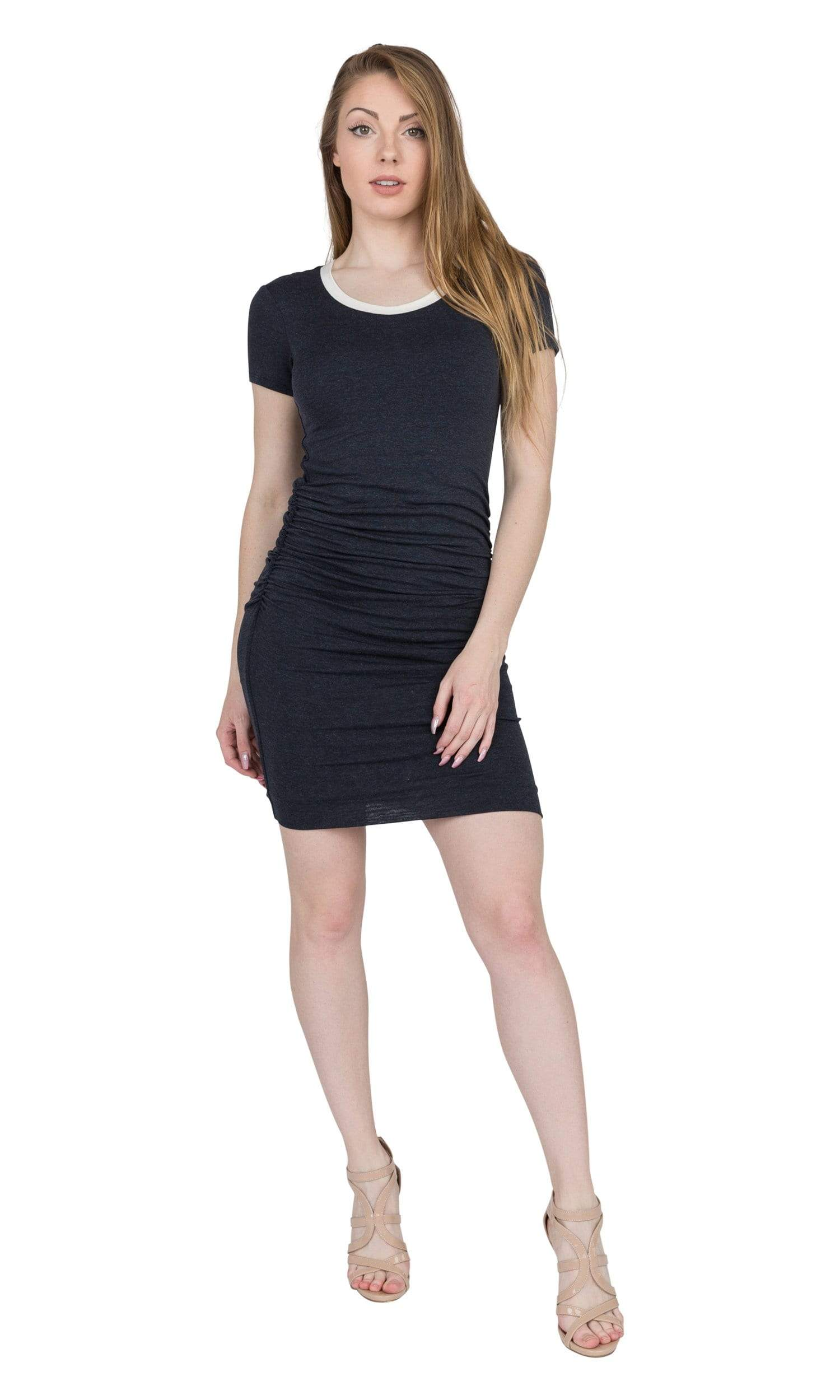 Velvet by Graham & Spencer Saxa Lux Gauze Crew Neck Dress