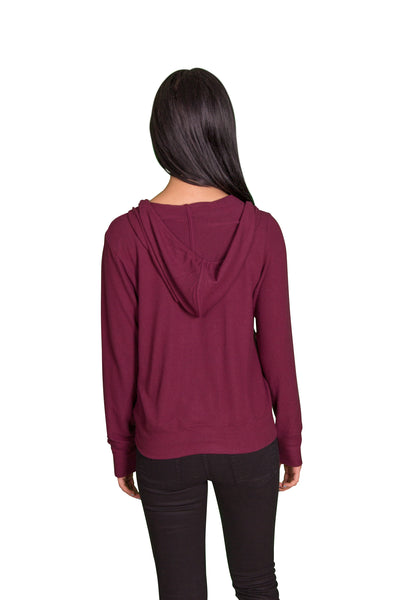 Velvet by Graham & Spencer Aviana Cozy Jersey Zip Up Hoodie - FINAL SALE-Velvet-Vintage Fringe