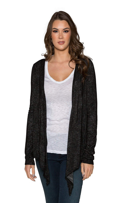 Velvet by Graham & Spencer Margaret Textured Knit Tie Front Cardigan