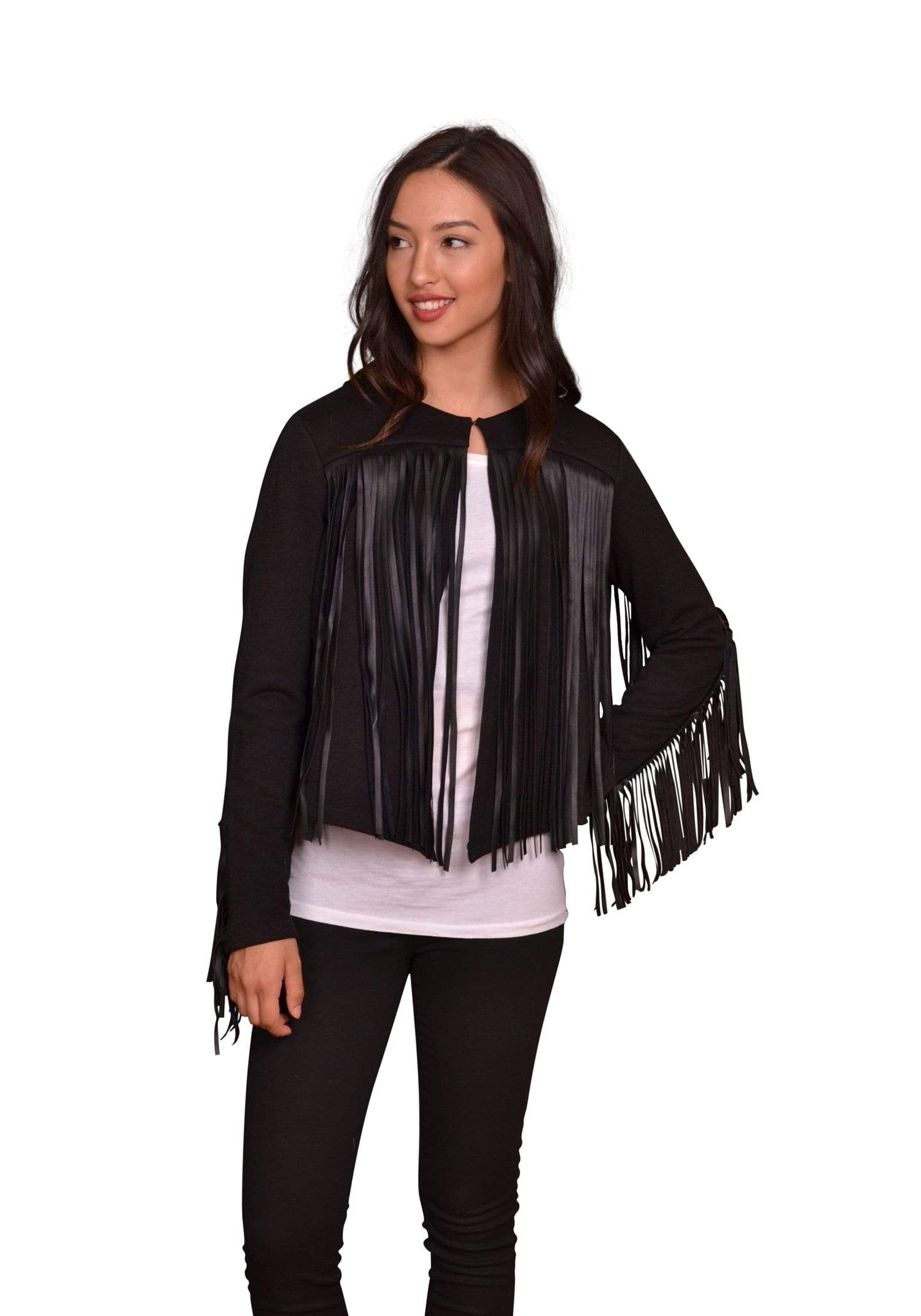 Velvet by Graham & Spencer Tiffany Fringe Jacket-Velvet-Vintage Fringe