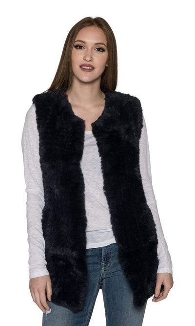 Love Token Faux Fur Long Vest-Love Token-Vintage Fringe