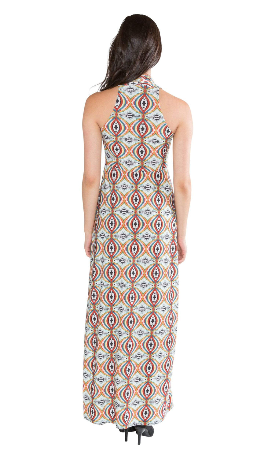 Viereck Vendome Halter Maxi Dress - Opium