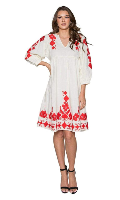 Velvet by Graham & Spencer Jora Embroidered Peasant Dress