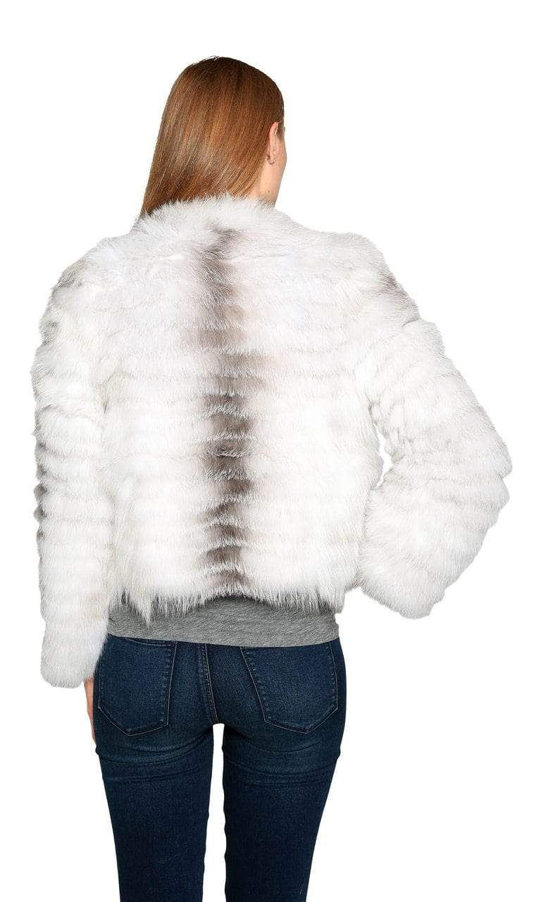 Love Token Lily Genuine Fox Fur Jacket