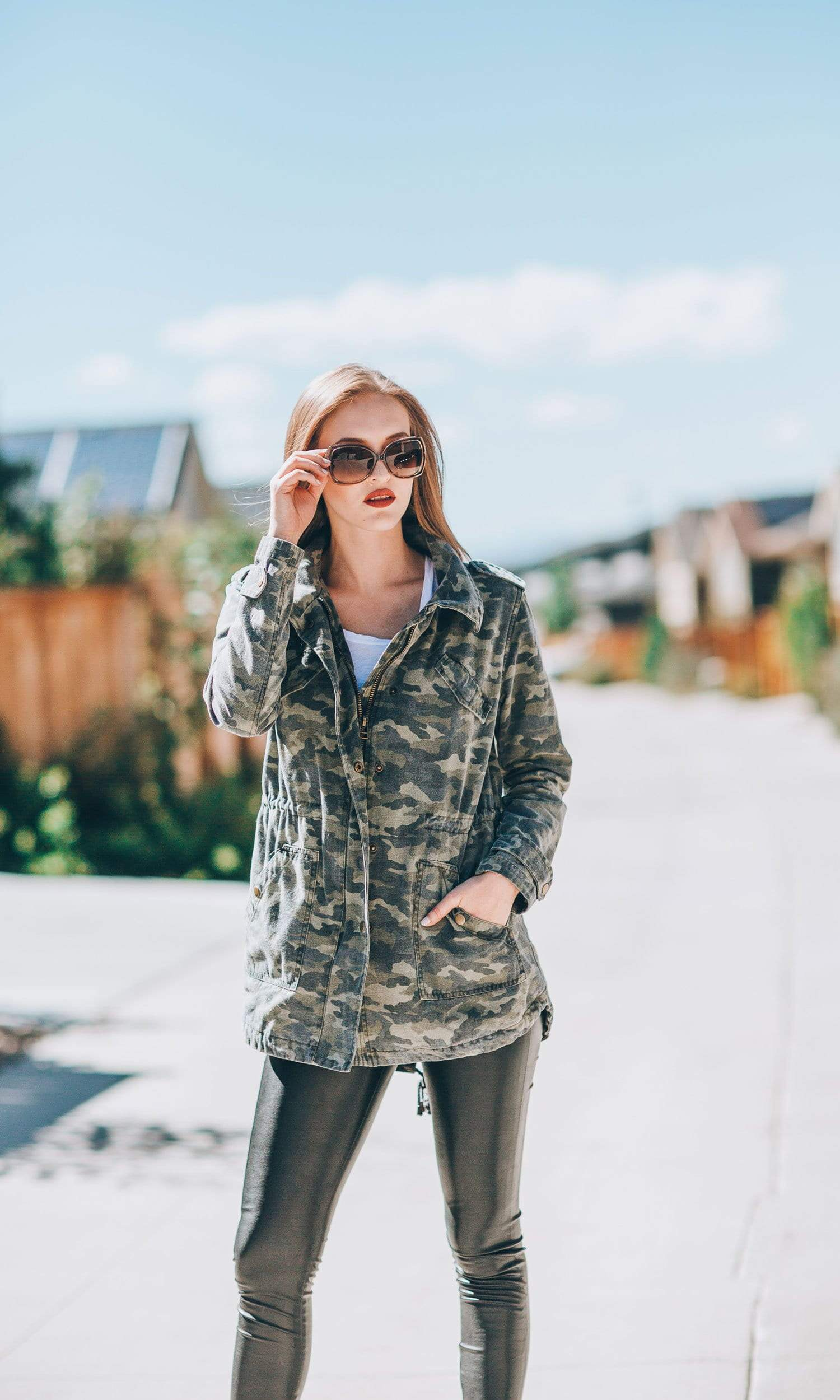 Velvet by Graham & Spencer Irene Camo Army Jacket