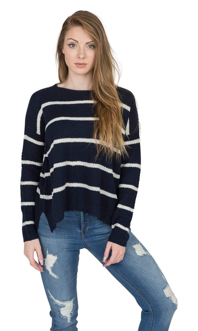 Velvet by Graham & Spencer Apolla Crewneck Striped Sweater-Velvet-Vintage Fringe