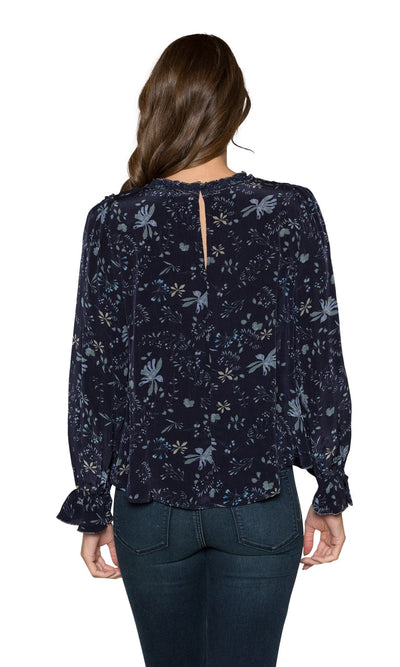 Velvet by Graham & Spencer Malia Floral Print Ruffle Top